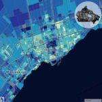 Income in Toronto Map Доходы в Торонто