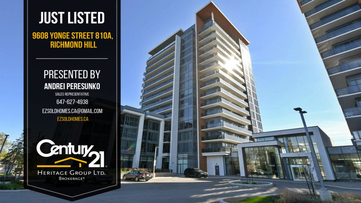 Condo Apartment Richmond Hill Realtor Peresunko Andrei Квартира в Ричмонд Хилл - 9608 YONGE Street #810A
