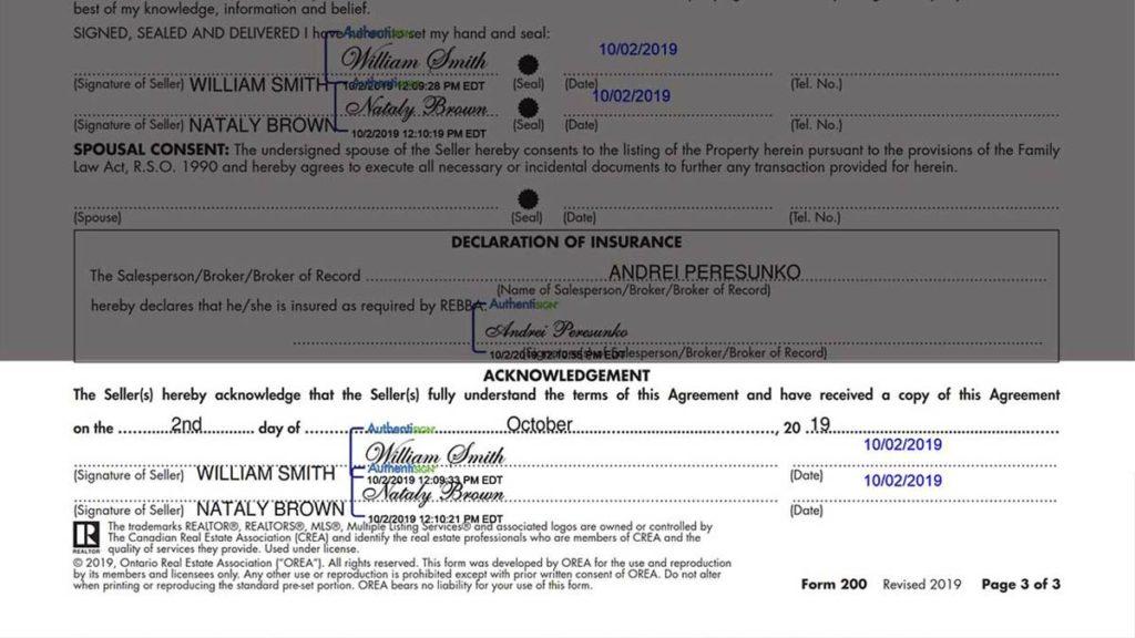 Listing Agreement Seller Representation Agreement Ontario, Договор на оказание услуг по Продаже Недвижимости в Торонто REALTOR Andrei Peresunko