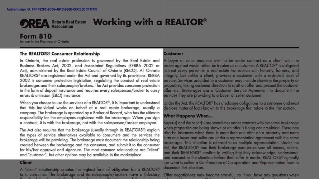 Покупка дома - Взаимоотношения с Риэлтором Торонто Канада